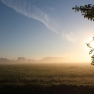 Sonnenaufgang und Nebel 5.40 Uhr