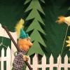 Peter holt seine Fangleine und eilt zum Wald
